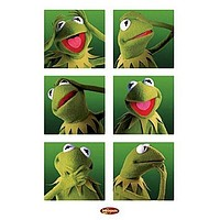 MUPPETS POSTER - FUNNY KERMIT COLLAGE - NEW HOT 24X36