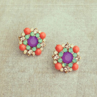 Pree Brulee - Primavera Bouquet Earrings