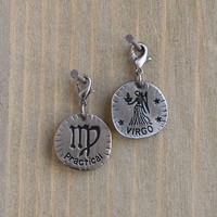 Virgo  Zodiac  Junk  Market  Charm  From  Natural  Life