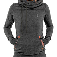 Casual Front Pocket Hooded Long Sleeve Sweater