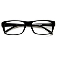 Modern Fashion Traditional Bold Thick Frame Clear Lens Eye Glasses