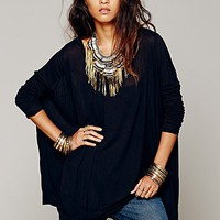 Free People Womens Drip To The Hip Tee