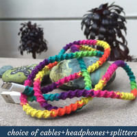 MyBudsBuzz Rainbow Wrapped Charger Cable