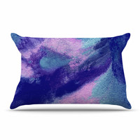 "Ashley Rice ""AC4"" Abstract Blue Pillow Case"