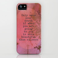 The Beauty of Silence iPhone & iPod Case by Olivia Joy StClaire