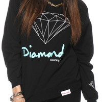 Diamond Supply Co. OG Script Black Crew Neck Sweatshirt