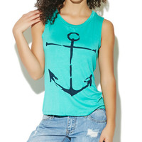 Anchor Muscle Tank | Wet Seal