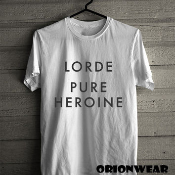 Lorde Pure Heroine Hot Logo T Shirt Tee Black and White Color Unisex - LD1