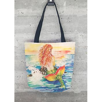 Sunset Mermaid Tote