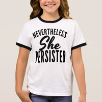 Nevertheless She Persisted Ringer T-Shirt
