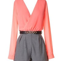 After the Sun Goes Down Romper - Coral