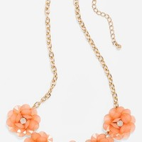 BP. Floral Stone Frontal Necklace (Juniors) | Nordstrom