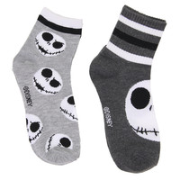 The Nightmare Before Christmas Jack Skellington Varsity Socks 2 Pair