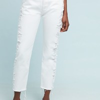 3x1 NYC W3 Higher Ground Distressed Cropped Jeans
