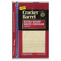 Cracker Barrel Extra Sharp White Cheddar Cheese Slices - 11ct