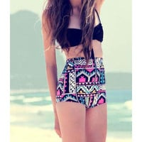 Floral Bandage High Waist Push Up Two Pieces Swimsuit Bikini Set