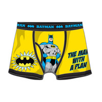 Batman Man With A Plan Mens Boxers