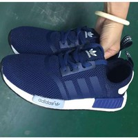 ADIDAS NMD Fashion Trending Women&Man Leisure Running Sports Sneakers Shoes navy blue