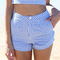 Compass Stripe Shorts | SABO SKIRT