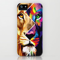 Trippy Lion iPhone & iPod Case by Pink Berry Pattern