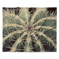 "Angie Turner ""Cactus"" Plant Fleece Throw Blanket"