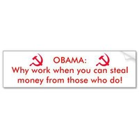 Obama the communist bumper stickers from Zazzle.com