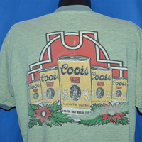 70s Coors Light Beer Can Flower Ringer t-shirt Extra-Large
