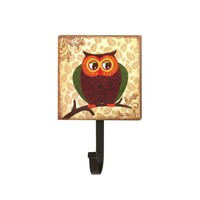 Wall Mounted Fat Owl Wall Hook