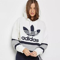 adidas Originals Women Fashion Pullover Hoodie G
