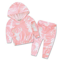 2pcs Newborn  Baby Girls Clothes T-shirt Hoodie+Pants Outfit