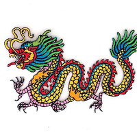 Dragon Embroidered Applique Iron on Patch Size 11.5 x 9.5 cm