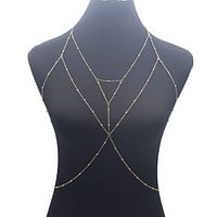 La Belle Fantastique Bralette body chain, body jewelry, layered body chain, gifts for her, sister's gift, mom's gift, daughter's gift