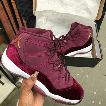 Air Jordan 11 breathable men's and women's lightweight sports basketball shoes