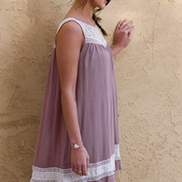 Free Spirit Mocha Sleeveless Shift Dress