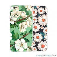 Floral Back Cover - iPhone 6 Case