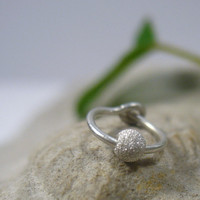 Cartilage Hoop Earrings Sterling Silver with Sterling SIlver Fleck Bead 6mm SINGLE Extra Tiny Hoops Collection