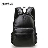 Leather School Backpack - Men Casual Bags