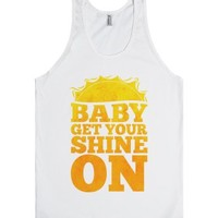 Baby Get Your Shine On (tank)-Unisex White Tank