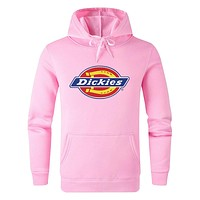 Dickies Fashion Men Women Casual Print Hooded Sweater Sweatshirt Pink