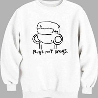Pugs Not Drugs Cute Sweater for Mens Sweater and Womens Sweater ***