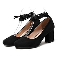 Strappy Chunky Heel Pumps
