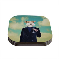 "Natt ""Passenger 8F"" Schnauzer Coasters (Set of 4)"