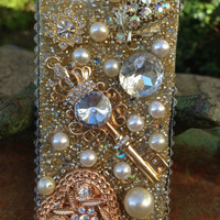 Key to my Heart bling iPhone 5 Case