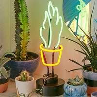 Potted Plant Neon Sign   Urban Outfitters
