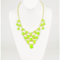 Geo Statement Necklace   $7.50   Cheap Trendy Necklaces Chic Discount Fashion for Women   ModDeals.