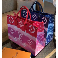 LV Louis Vuitton classic gradient color printing letters ladies handbag shoulder bag