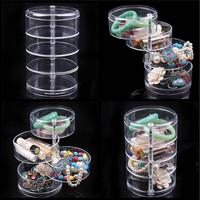 Makeup Case Rotatable Clear Organiser Cosmetic Display Storage Jewellery (Size: 1)