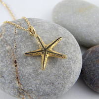 Gold starfish anklet, sea star anklet, gold anklet, gold ankle bracelet, elegant anklet, shinny anklet, minimalist anklet, beach jewelry