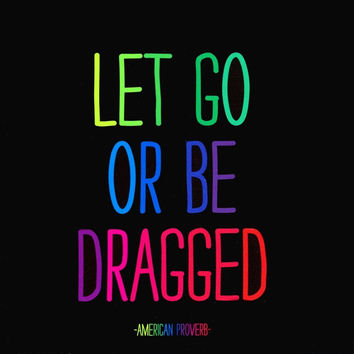 LET GO OR BE DRAGGED - Magnet