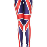 Union Jack Print Skinny Leggings